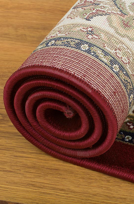 rolled rugs